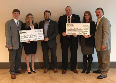 Alabama Farm Credit and 4-H representatives with $5000 donation