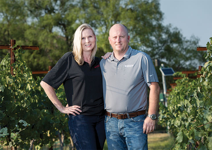Vineyard owners Mary and Stephen Watson